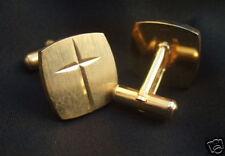 Catholic Religious Christian CUFFLINKS Cross Goldplated Nice quality