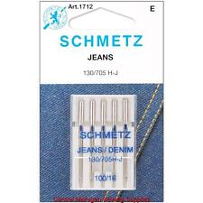 Schmetz Denim Jeans Sewing Machine Needles 15x1 Size 16 Singer Kenmore White