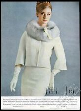 1963 Lilli Ann woman's white suit color photo fashion vintage print ad