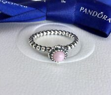Authentic Pandora October Pink Opal Birthstone Ring Size 56 #190854POP