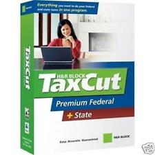 H&R Block TaxCut 2007 Premium Federal + State Tax Returns Taxes CD-ROM