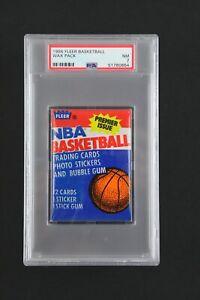 1986 Fleer Basketball UNOPENED Wax Pack PSA NM 7 Possible Jordan Rookie
