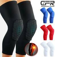 Compression Long Sleeve Support Leg Knee Pad Brace Sport Pain Guard Men Women US
