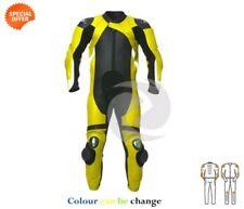 Trajes de cuero carreras de cuero color principal amarillo para motoristas