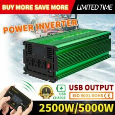 Pure Sine Wave Real Power Inverter DC12V 24V to AC 110V/220V 2500W-5000W Max