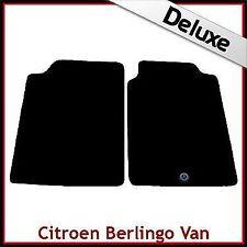 Citroen Berlingo Van Mk1 1996-2007 1-Clip Tailored LUX 1300g Carpet Mats BLACK
