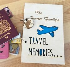 Personalised Engraved Wooden Travel Journal Notebook Notepad A6 A5