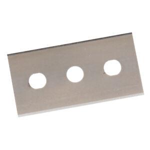 Lames acier trempé 0.2 mm double extrémité x 10 pour grattoir