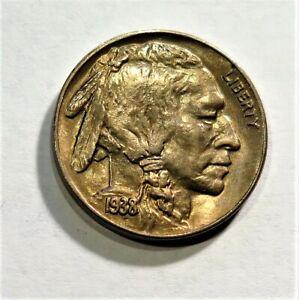 1938-D Buffalo Nickel - Sharp Toned UNC - Great Eye Appeal