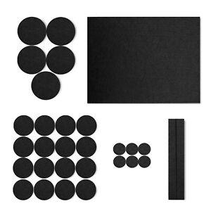 BLACK / BROWN - 30 Self Adhesive Felt Pads Furniture Floor Scratch Protector