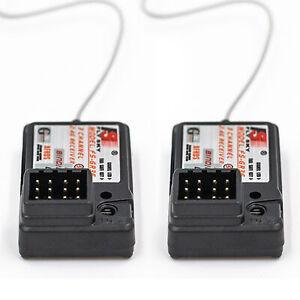 2 pz Flysky FS-GR3E AFHDS 2.4G 3CH Ricevitore per FS-GT2 FS-GT2B FS-GT3B K7K6