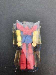 Vintage 80s Eraser Unusual Transformer Figure Eraser, + Part Of Original Packing