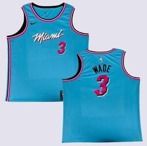 DWYANE WADE Autographed Miami Vice Blue Heat Nike Jersey FANATICS