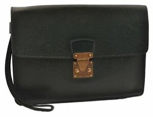 Authentic Louis Vuitton Taiga Pochette Kourad Clutch Bag Green M30194 LV 0716A