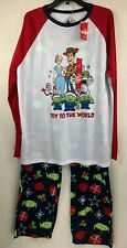 NEW JammiesForYourFamilies Toy Story 4 Christmas Pajamas Toy To The World Mens L