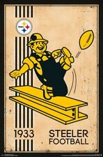 Pittsburgh Steelers Retro Vintage NFL New 22x34 Poster!