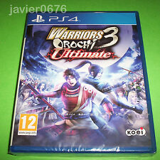 WARRIORS OROCHI 3 ULTIMATE NUEVO Y PRECINTADO PAL ESPAÑA PLAYSTATION 4