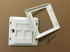 Double RJ45 Wall Face Plate Network LAN Cat 5/5e/6 Two Ports