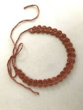 Crochet Lace Choker Rose Gold Copper Color Handmade Crochet No Metal N105