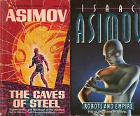 Lot/Set of 7 Complete Robot Series Novels by Isaac Asimov (Sci Fi) I Robot too