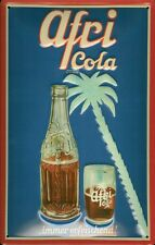 Afri Cola Palme Blechschild 20x30cm Werbung Reklame Werbeschild Metal Sign Coke