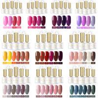 4-6 Bottles BORN PRETTY Gel Nail Polish Kit Soak Off UV Gel Varnish Trendy Color