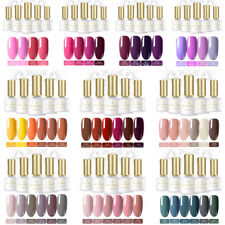 4-6 Bottles BORN PRETTY Gel Nail Polish Kit Soak Off UV Gel Varnish Trendy Color