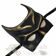 Men's Batman Inspired Costume The Dark Knight Theater Masquerade Mask [Gold]