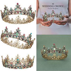 12 Pack Jeweled Multi Colored Rhinestone Princess Tiaras