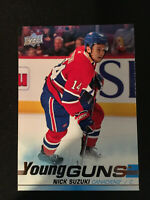 2019-20 Upper Deck Young Guns Nick Suzuki #471 Montreal Canadiens Hockey RC Rook