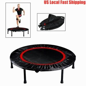 "40""Fitness Trampoline Mini Rebounder Fitness Foldable Gym Cardio Jump Trainer US"