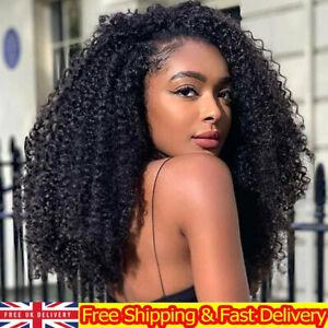 Womens African Kinky Wave Long Afro Wig Curly Curls Brazilian Hair Wigs Black
