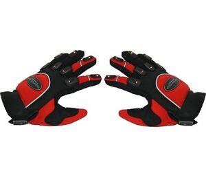 Paire de gants moto enduro / motocross taille S  , rouge, noir
