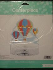 Up, Up And Away Honeycomb Centerpiece Baby Shower Hot Air Balloon Party Supplies