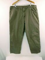 Mens Carhartt 100% Brown Cotton Canvas Loose Fit Carpenter Pants 42 x 29
