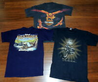 3 Harley-Davidson Motorcycle T-Shirts Size M Graphic Eagle Pa Winchester Va