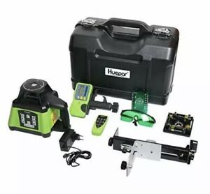 Huepar Electronic Self-Leveling Green Rotary Laser Level Kit -Horizontal