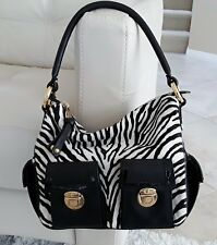 Marc Jacobs 100% Calf Leather Black/white Hobo bag Style C352514