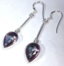 Treated Topaz Sterling Silver Fine Earrings