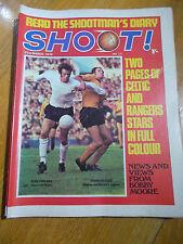 SHOOT NEWSPAPER 21 MAR 70 PIN-UP JOHNNY VINCENT BIRMINGHAM CELTIC & RANGERS STAR
