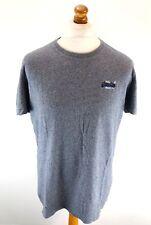 SUPERDRY Mens T-Shirt Top XL Grey Cotton