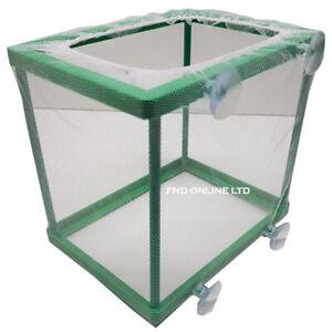 Aquarium Fish Hatchery Tank Guppy Breeding Box Breeder Baby Fry Net Trap EGG