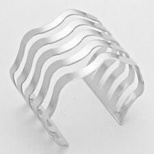 Wave cage cuff bracelets SET OF 2