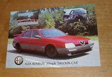 Alfa Romeo 164 Procar Promotional Leaflet / Brochure 1987-1988