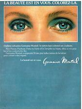Publicité Advertising 1980 Cosmétique maquillage Germaine Monteil