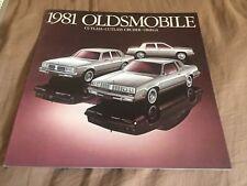 1981 Oldsmobile Cutlass Supreme and Omega Original Color Brochure Prospekt