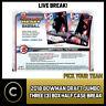 2018 BOWMAN DRAFT JUMBO BASEBALL 4 BOX (HALF CASE) BREAK #A068 - PICK YOUR TEAM