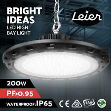 Leier UFO LED High Bay Lights Lamp 200W Industrial Workshop Warehouse Gym Light