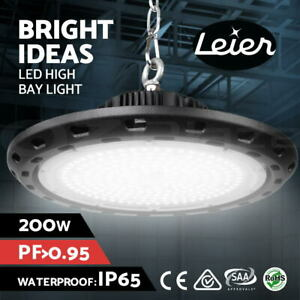 Leier UFO LED High Bay Lights Lamp 200W Industrial Workshop Warehouse Gym Light