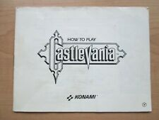 NES - MANUAL ONLY - Castlevania
